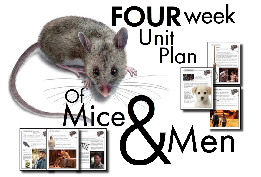 Of Mice and Men Unit Plan, FOUR FULL WEEKS of Dynamic Lessons