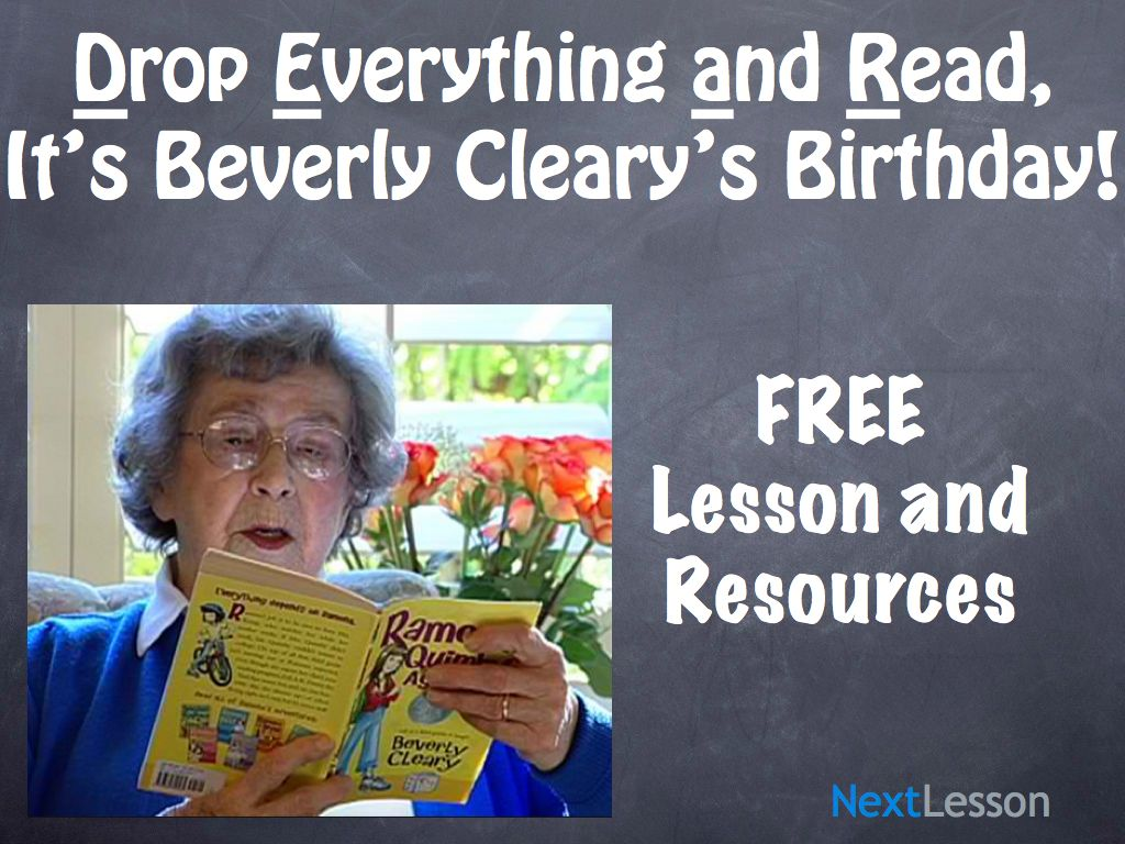 D.E.A.R., It's Beverly Cleary's Birthday!