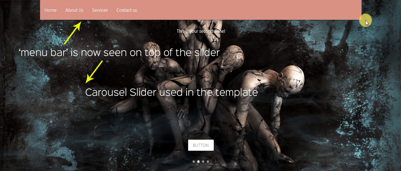 Learni   How to overlay a Navbar on Carousel slider in Materialize css