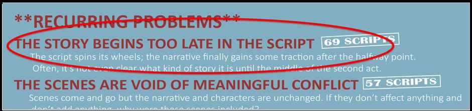 Script reader infographic - slow starter