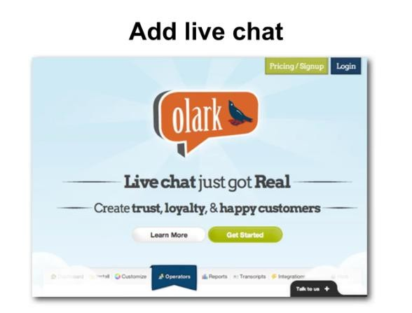 active live chat Olark