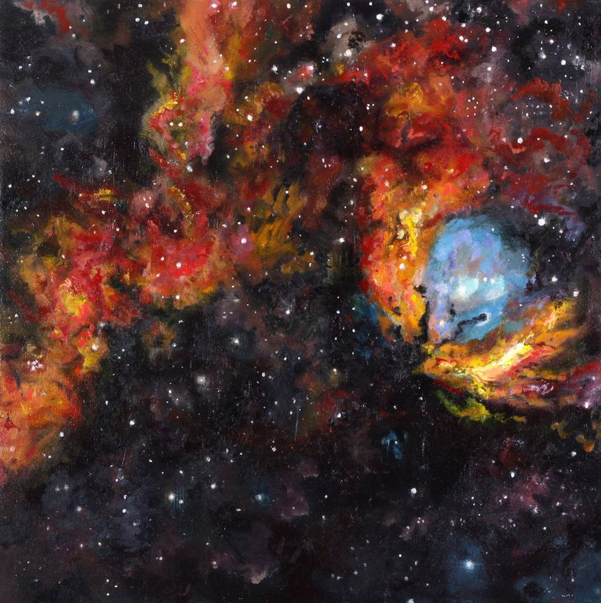 image: Tulip Nebula 2016 Oil on Panel 20x20 inches