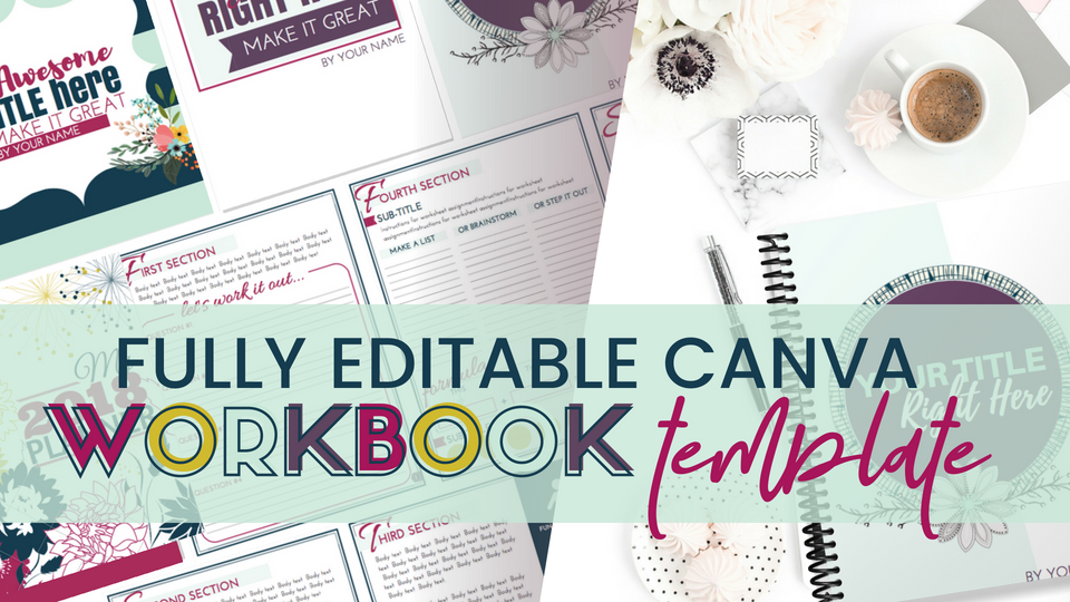 Editable Workbook Template (Canva) | Simplifying DIY Design