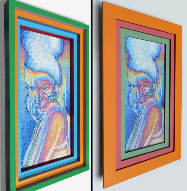 image: Original painting/frames vs. print/frames