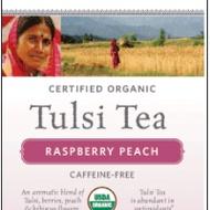 Raspberry Peach Tulsi Tea from Organic India