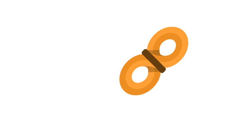 Icon of an orange rope coiled in a figure eight.