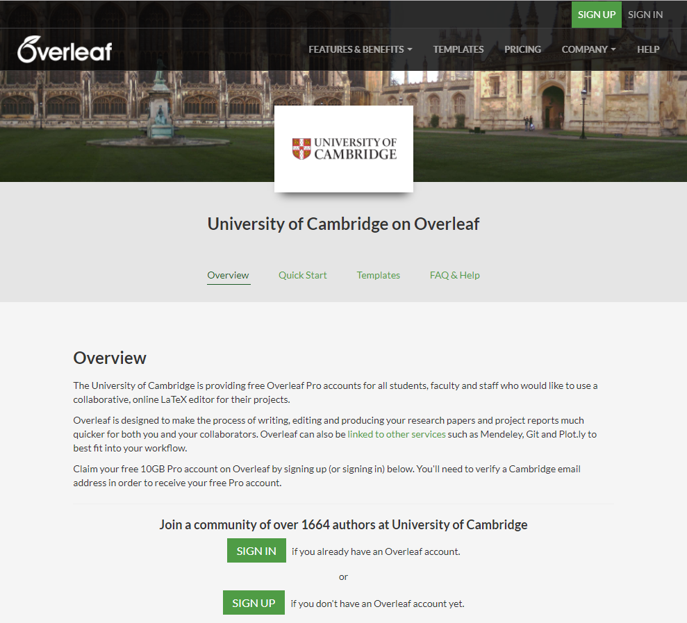 University of Cambridge Portal