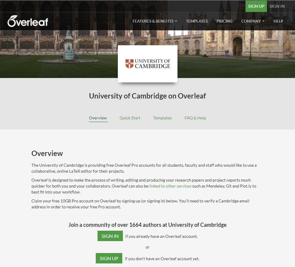 University of Cambridge Portal