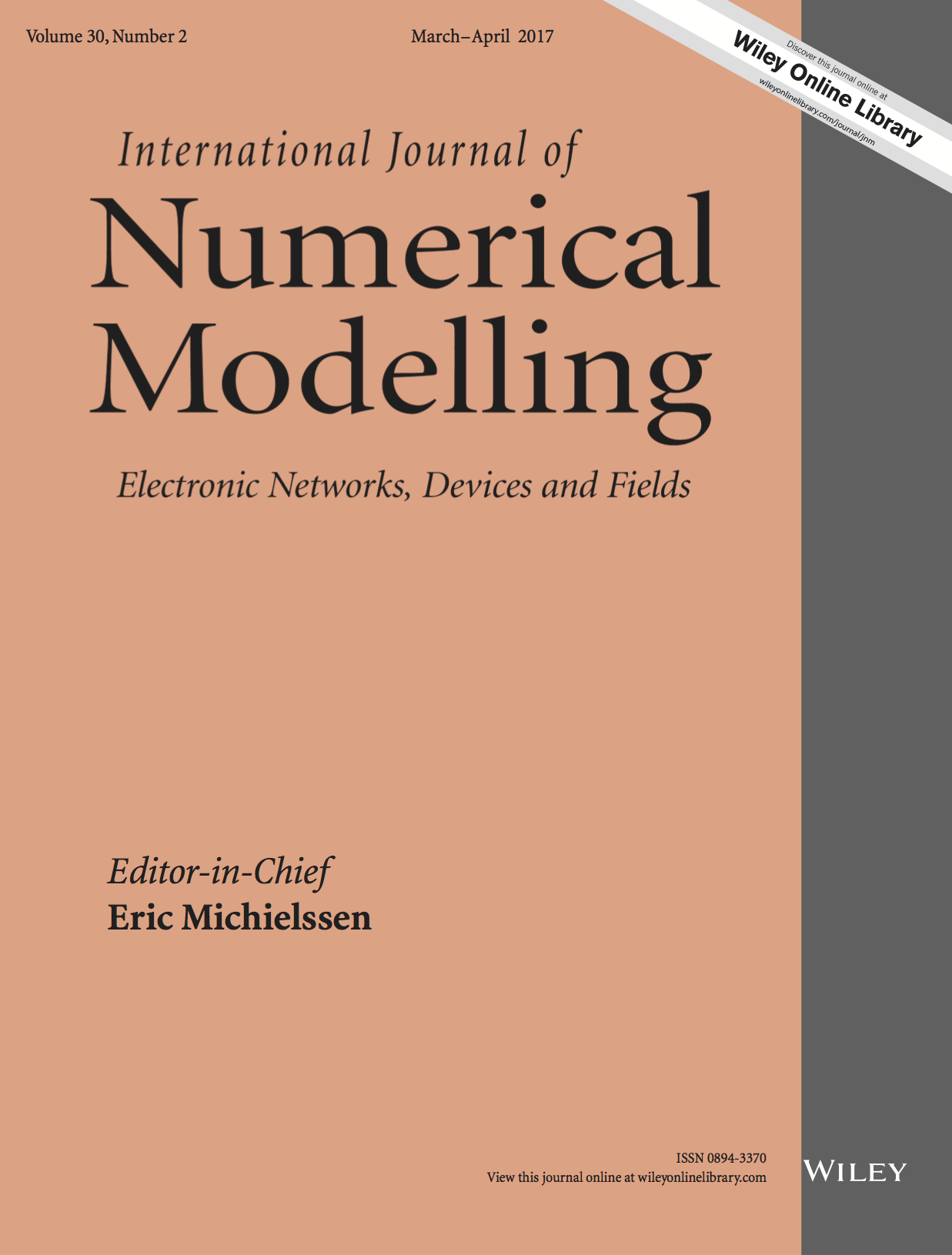 Template for submissions to International Journal of Numerical Modelling: Electronic Networks, Devices and Fields