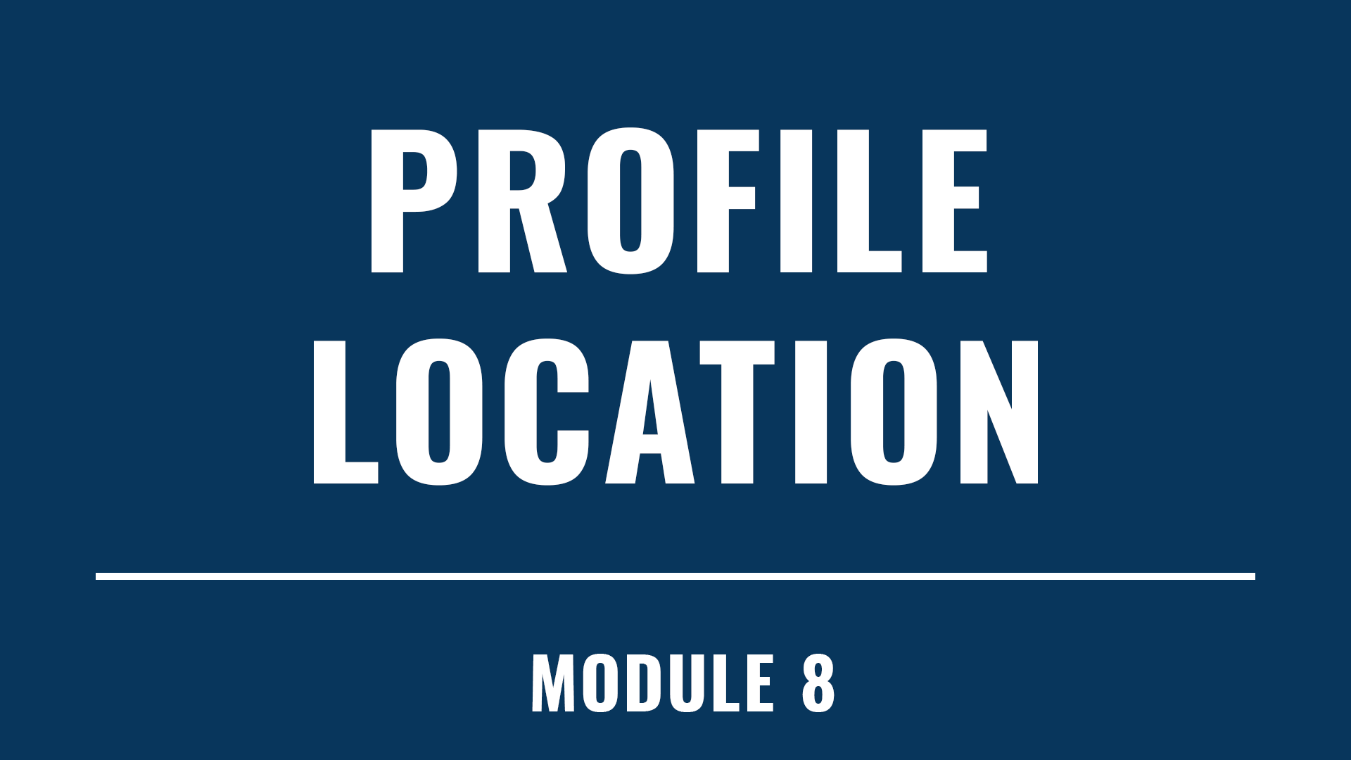 Profile Location