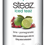 Iced White Tea: Lime Pomegranate from Steaz