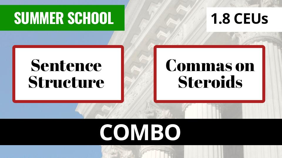 COMBO: Sentence Structure / Commas on Steroids   Margie