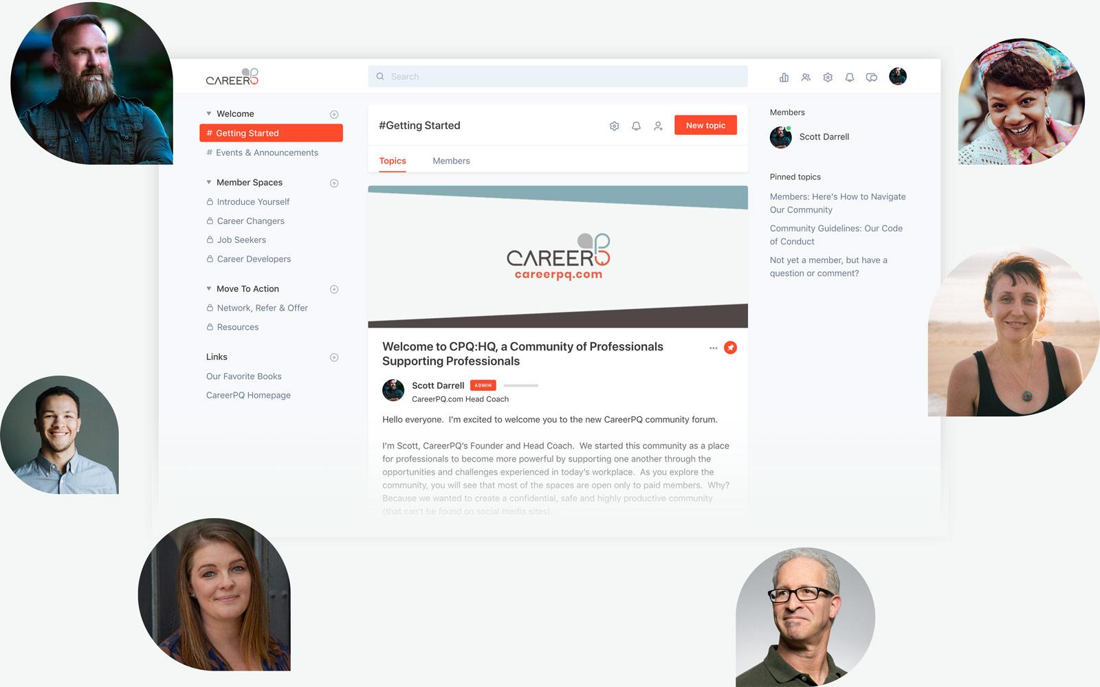 Screenshot of the CPQ:HQ Community main page