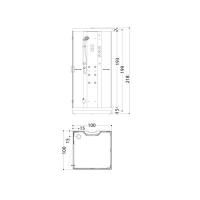 Steamdusj Tokyo 100 V Daylight, klar side/klar front