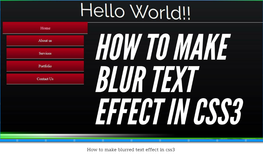 How to make your Text Blur: Animated text blur effect and