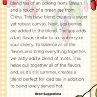 Goji Berry Mint from Handmade Tea
