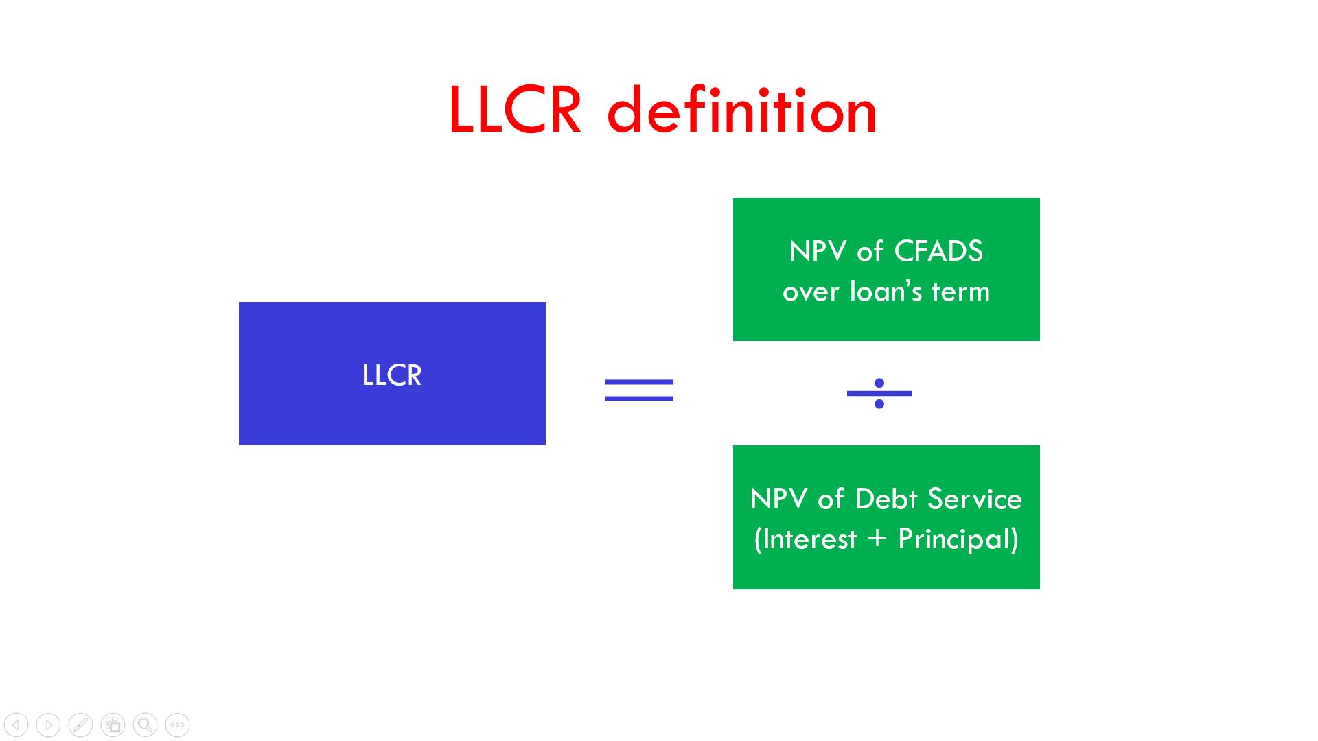 LLCR definition