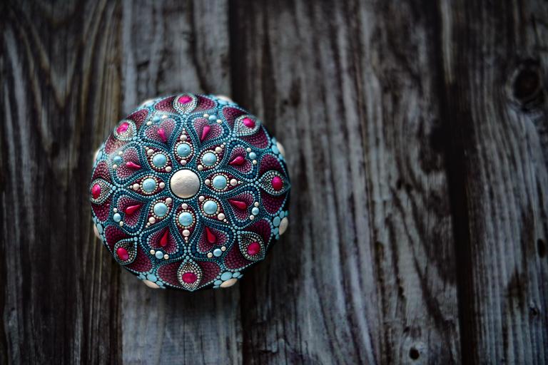 Mandala Stone by Liona