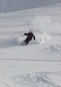 Iain trades his kilt for some powder skis