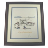 """Judgement"" by Salvador Dali. From the History of Don Quixote. Framed & Signed."