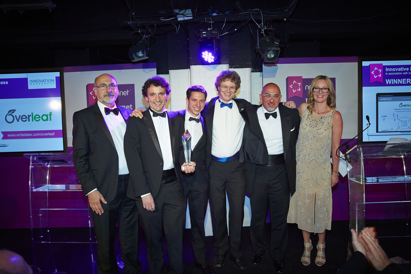 Nominet Internet Awards 2014 winners writeLaTeX Overleaf official photo