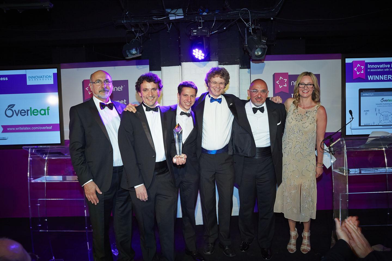 Nominet Internet Awards 2014 winners writeLaTeX Overleaf official photo
