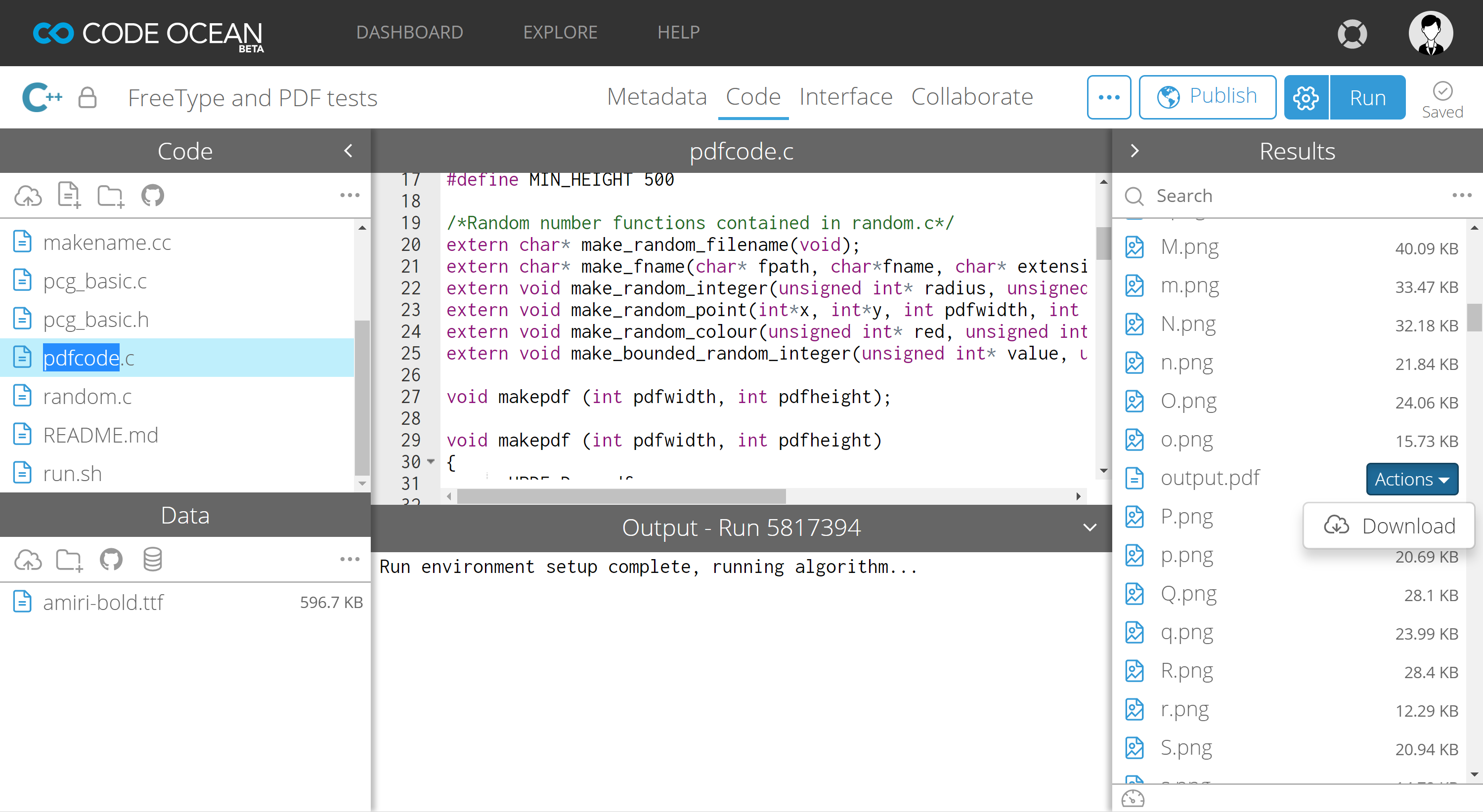 Case Study: An Introduction to Code Ocean—Creating and