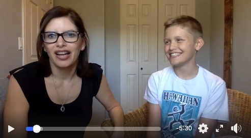"Me and Sam my ""spirited"" boy recently doing a video Q&A in my group"