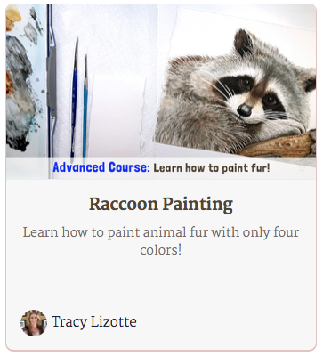 How to Paint a Raccoon