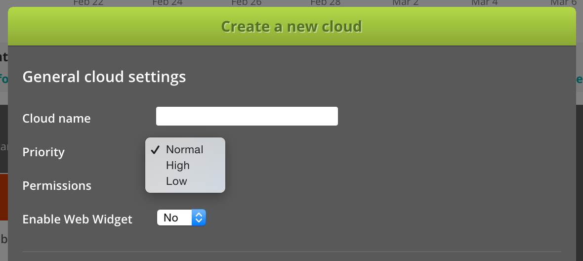 Setting priority on encoding cloud