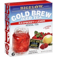 Cold Brew Iced Tea Raspberry & Lemon from Bigelow