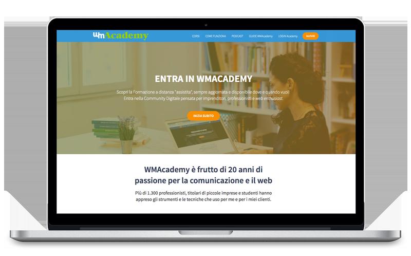 WMAcademy corsi online via desktop e mobile