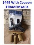 Beretta USA APX + 7 Mags + FDE Frame