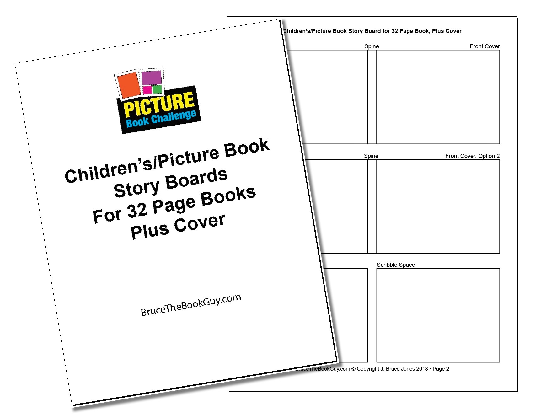 32 Page Story Board PDF to Help Layout Your Book