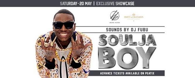 BANG BANG x MOËT Present: Soulja Boy Exclusive Showcase/20th May