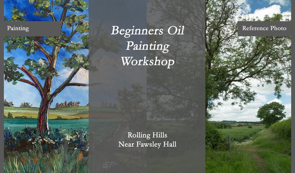 beginners oil painting workshop, learn something new, creative workshop