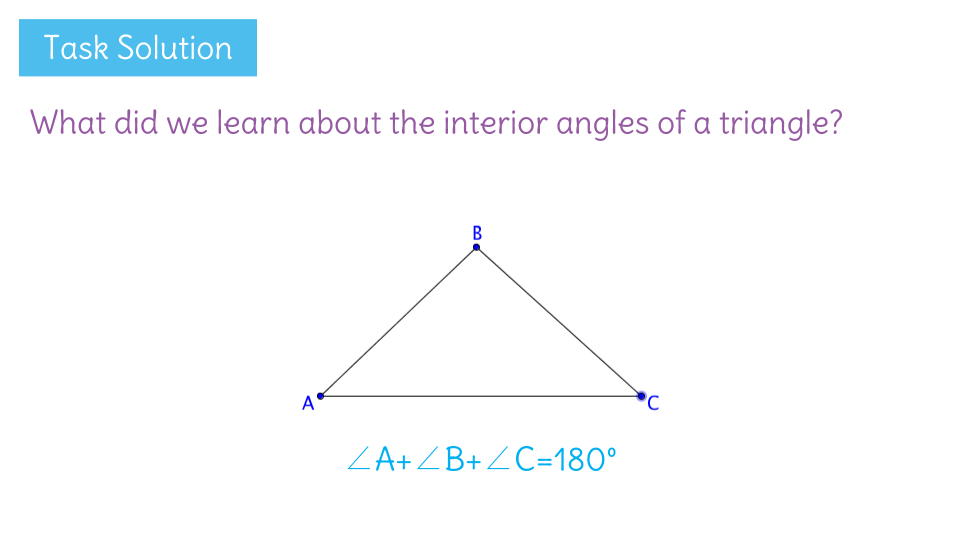Learnzillion - Triangle exterior angle sum theorem ...