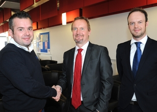 (l-r) Neil Clifton, Chris Greenough and Charles Addison