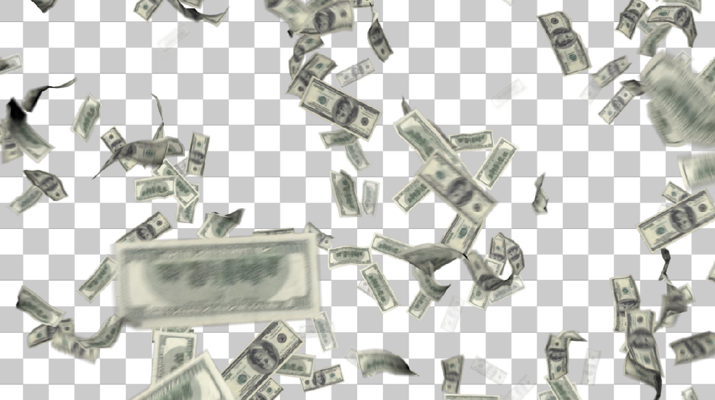 один эффект на фото падающие деньги большой нем есть