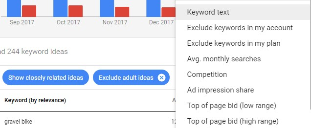 How to Use the Google Keyword Planner Tool's Filters