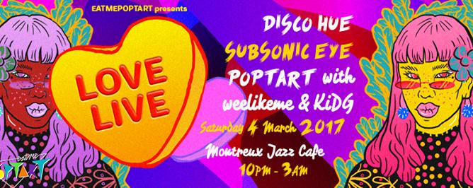Eatmepoptart presents: LoveLive feat Disco Hue, Subsonic Eye
