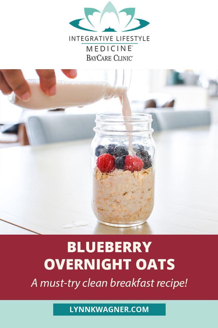 Blueberry Overnight Oats Recipe, Clean Eating