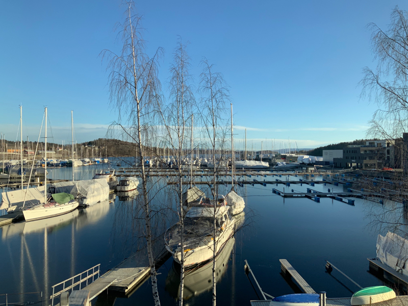 View from Office Overlooking Leangbukta Harbour