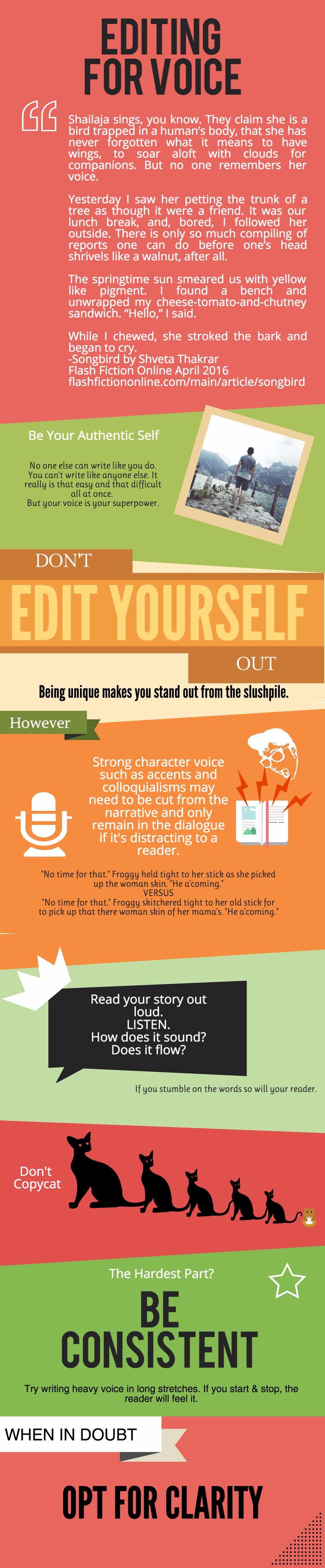 Editing voice