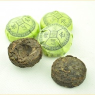 Ripe Pu-erh tea and Noto-Ginseng Flower Mini Tuo from Yunnan Sourcing