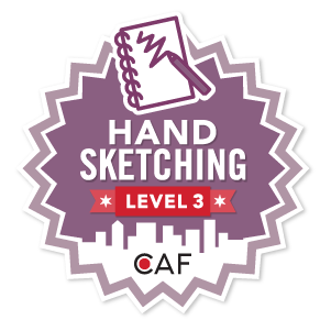 Badge for Hand Sketching - Level 3
