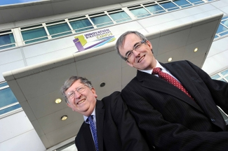 Dr Steve Walker with Dr David Hardman