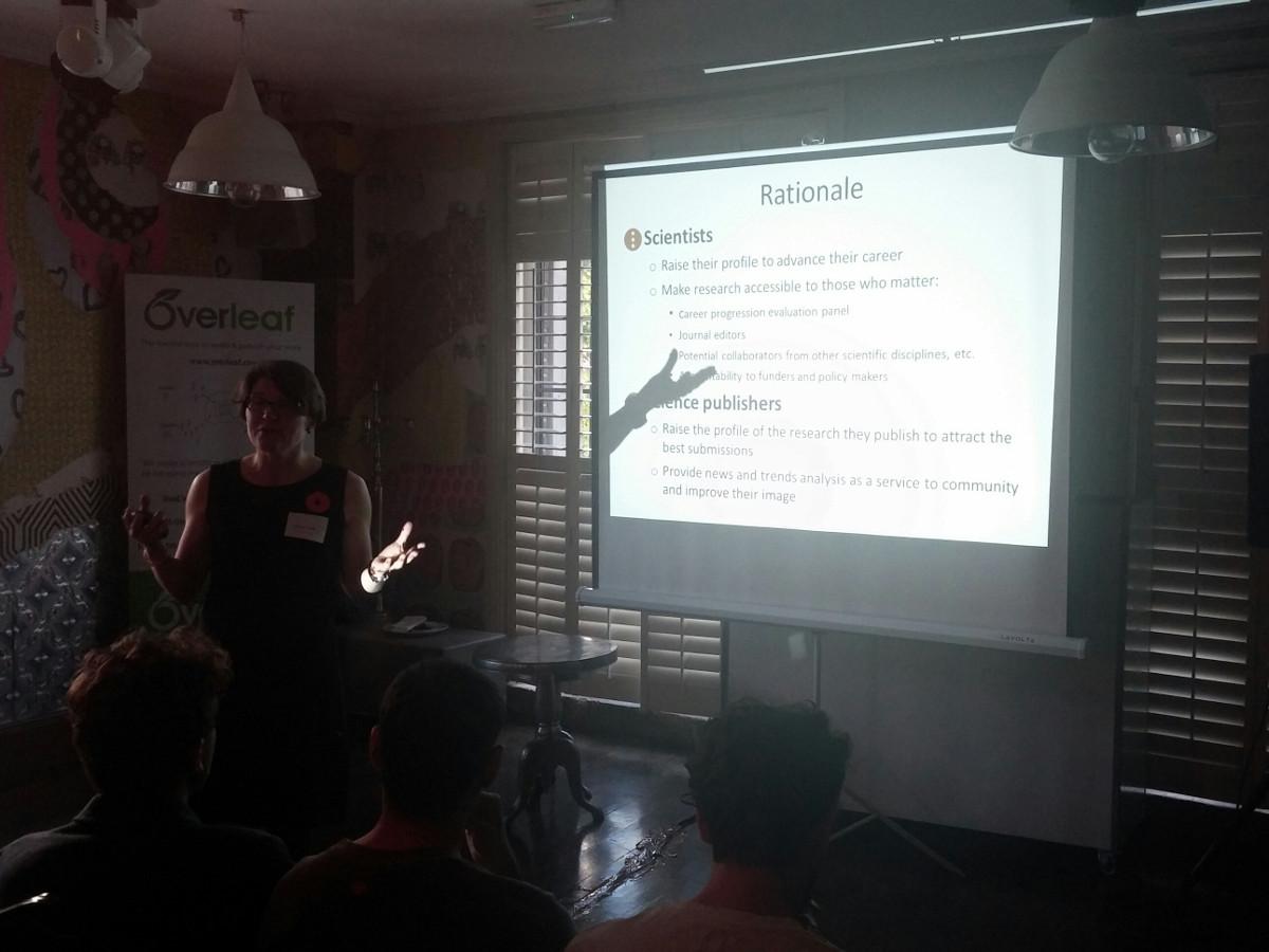 Overleaf futurepub 5 Sabine SciencePOD demo