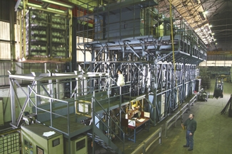 NADCAP certified, fully automated rapid drop bottom heat treatment line