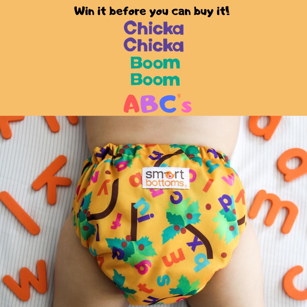 Smart Bottoms' Chicka Chicka Boom Boom Abc's Diaper.